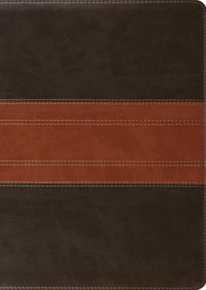 ESV Study Bible, Large Print (TruTone, Forest/Tan, Trail Design) by ESV (9781433564727) Reformers Bookshop