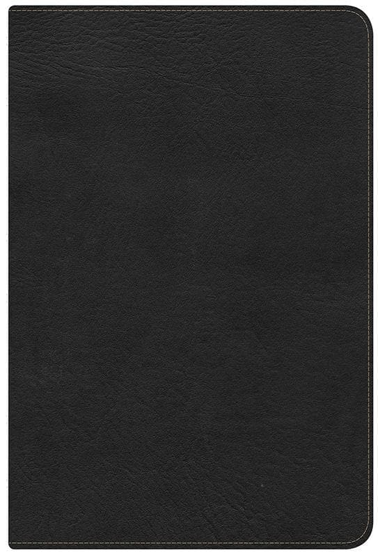 9781433602887-HCSB Large Print Ultrathin Reference Bible - Mantova Black-