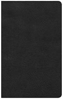 CSB Ultrathin Reference Bible, Black Leathertouch by Bible (9781433647574) Reformers Bookshop