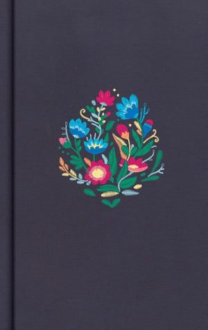 CSB Personal Size Bible, Navy Floral Embroidered Cloth Over Board by Bible (9781535953795) Reformers Bookshop