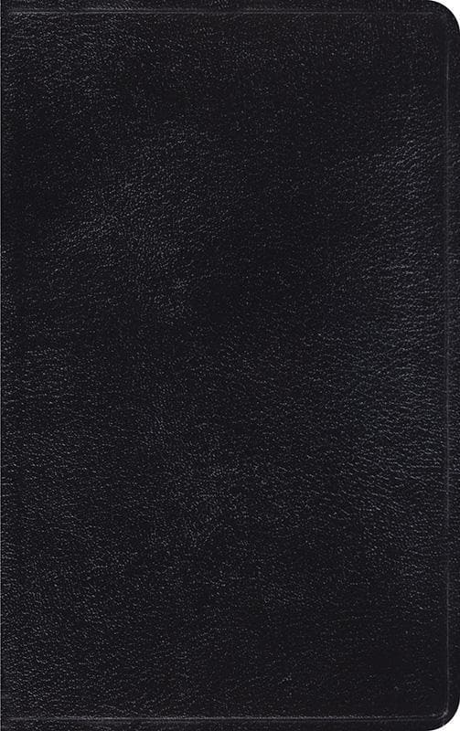 9781581345032-ESV Thinline Bible: Black: Genuine Leather-Bible