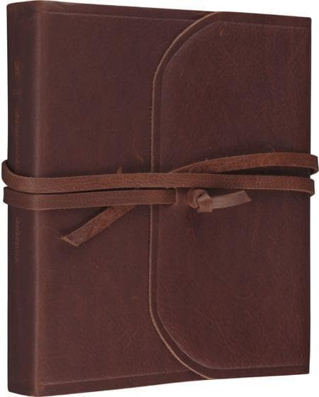 9781581349658-ESV 2-Column Journaling Bible, Natural Leather, Brown, Flap With Strap-Bible