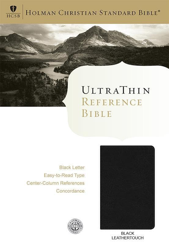 9781586406165-HCSB Ultrathin Reference Bible - Black, Black Letter-