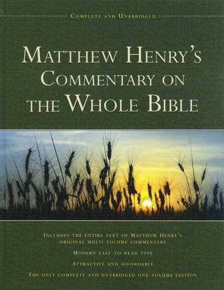 9781598562750-Matthew Henry's Commentary on the Whole Bible: Complete and Unabridged One-Volume Edition-Henry, Matthew