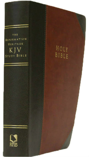 The Reformation Heritage KJV Study Bible - Two-Tone Leather-Like (Brown/Grey) by Bible (9781601784391) Reformers Bookshop