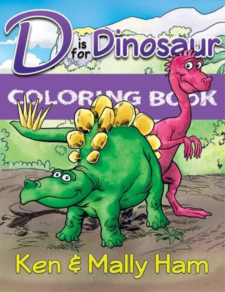 9781683440154-D is For Dinosaur Coloring Book-Ham, Ken; Ham, Mally