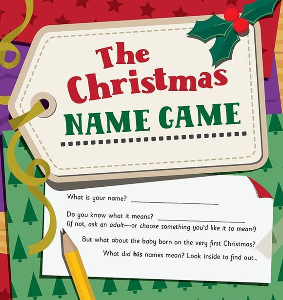 9781784980283-Christmas Name Game, The-Mitchell, Alison