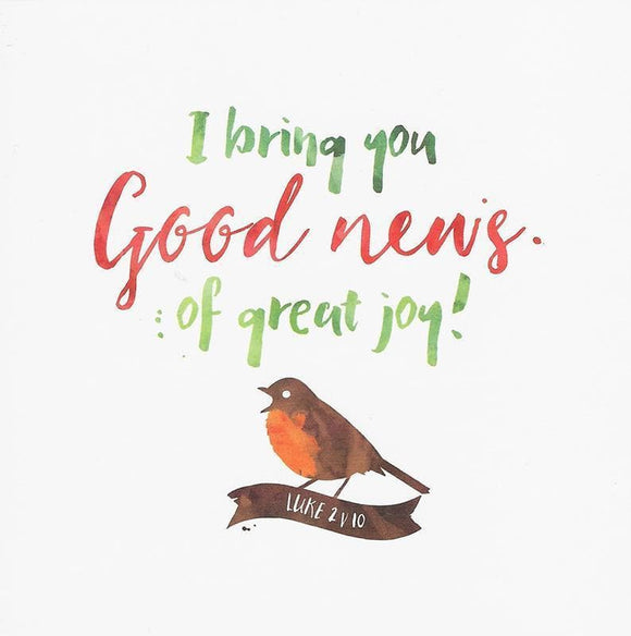 9781784980467-I Bring You Good News Christmas Cards (6robin)-