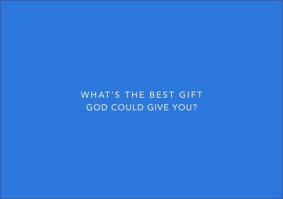 9781784981860-LE Invitations Plain: What's the best gift God could give you-