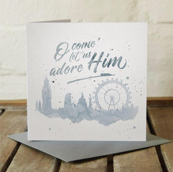 O Come Let Us Adore Him Christmas Cards (6london)