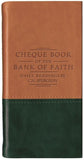 Chequebook of the Bank of Faith Tan/Green