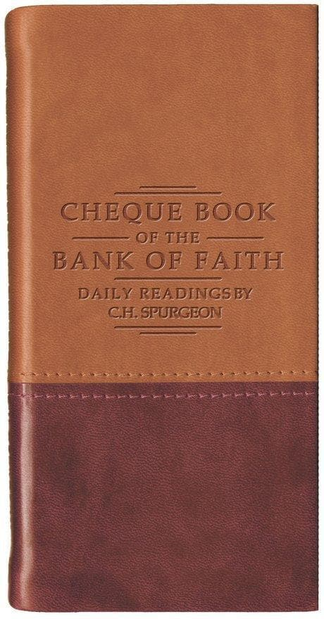 Chequebook of the Bank of Faith Tan/Burgundy