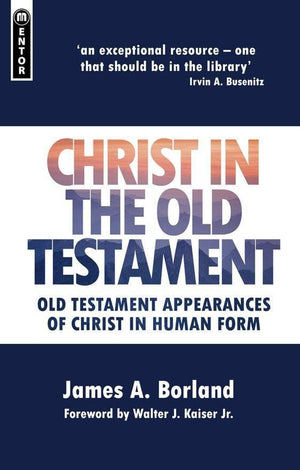 Christ in the Old Testament: Old Testament appearances of Christ in Human form by Borland, James A. (9781845506278) Reformers Bookshop