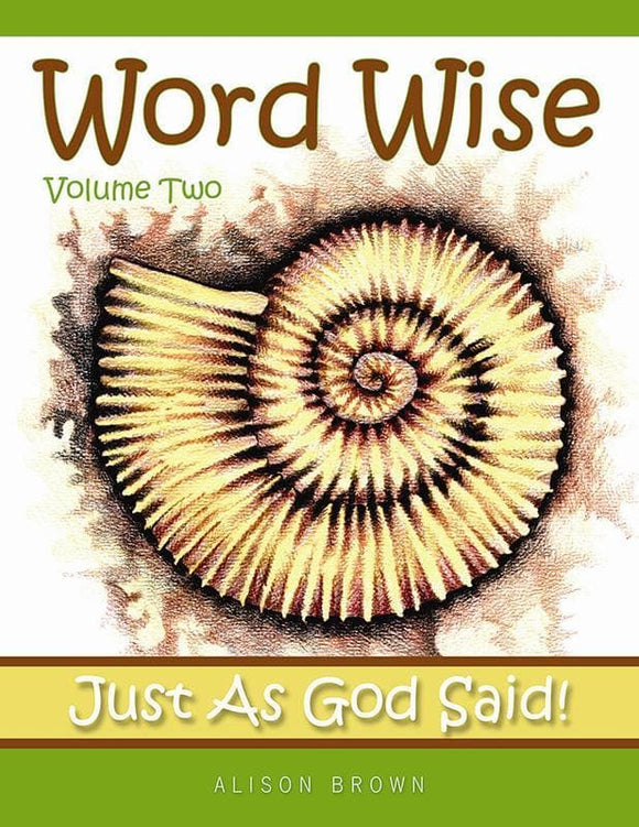 9781848711785-Word Wise: Volume 2: Just as God Said-Brown, Alison