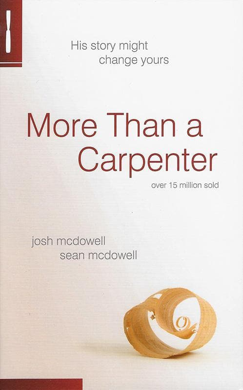 9781850788461-More than a Carpenter: His Story Might Change Yours-McDowell, Josh; McDowell, Sean