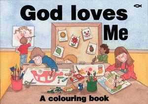 9781857920932-God Loves Me (Colouring Book)-Womersley, Sarah