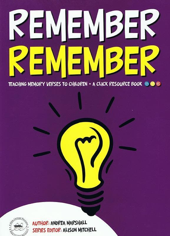 9781905564750-Remember Remember: Teaching memory verses to children-Marshall,;rea