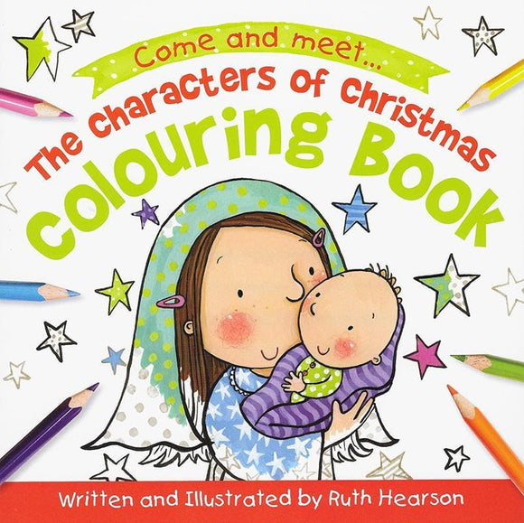 9781910587782-Characters of Christmas Colouring Book, The-Hearson, Ruth