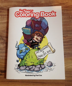 RefToons Coloring Book: Over 30 Drawings & Character Bios
