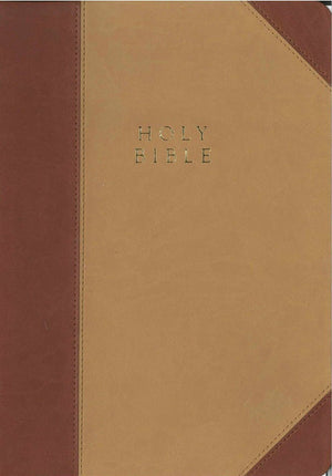 The Reformation Heritage KJV Study Bible - Two-Tone Leather-Like (Tan/Burgundy) by Bible (9781601784407) Reformers Bookshop