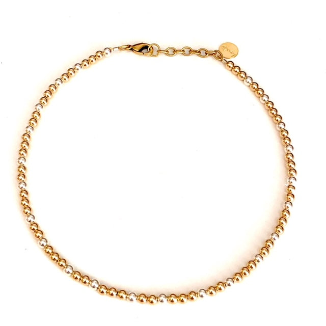 4mm 14kt Gold-Filled-Sterling Silver Choker