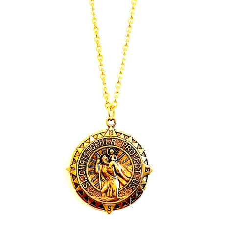 St. Christopher stainless steel necklace