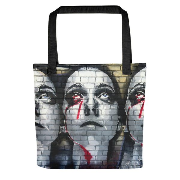 Blood Tear Brick Stencil Tote bag