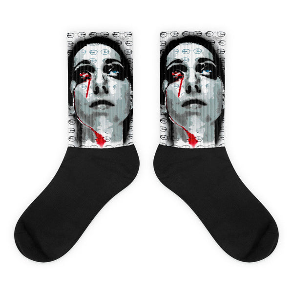 Blood Tear Paste Up Socks