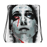 Blood Tear Paste Up Drawstring bag