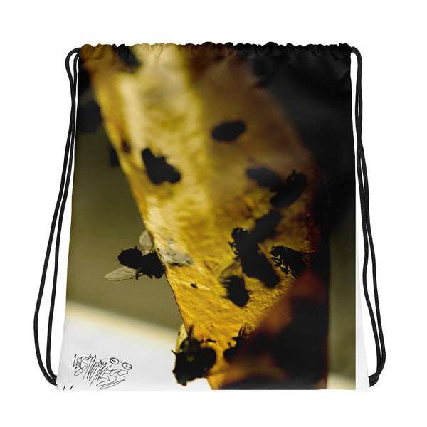 Fly Strip Drawstring bag