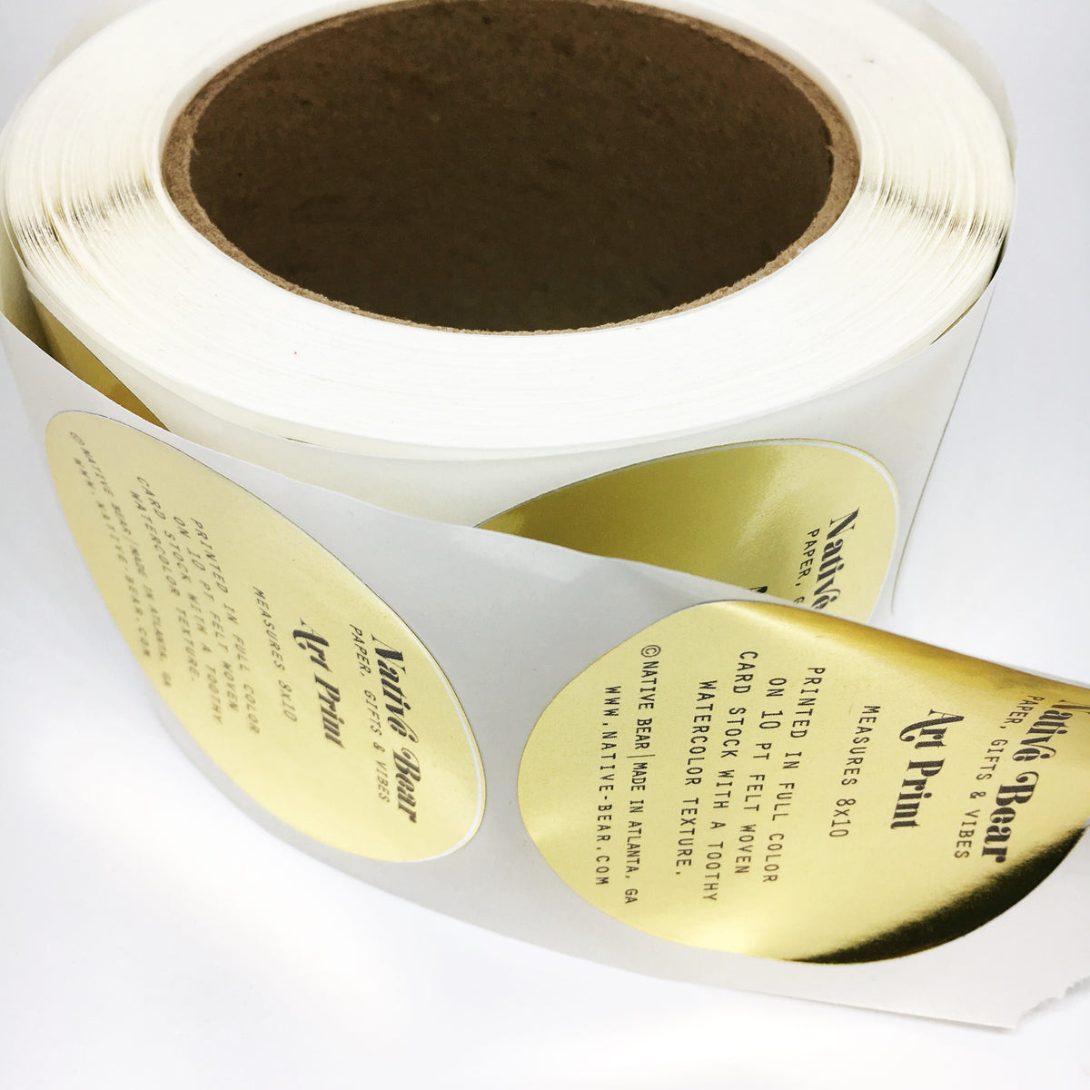 Spot Color Foil Roll Labels - Circle