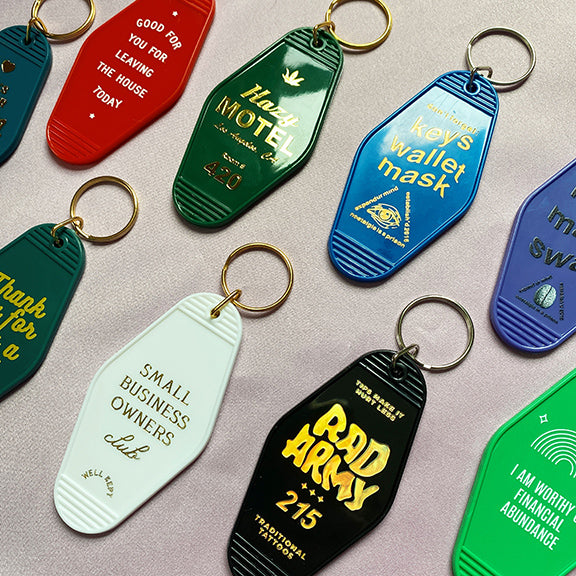 Custom Motel Key Tags