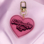 Heart-Shaped Acrylic Keychains