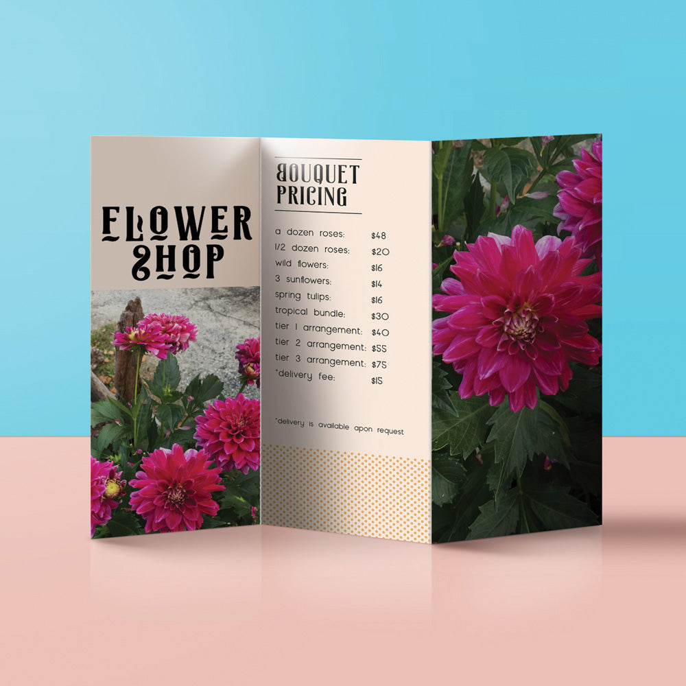tri fold brochure cost food trifold design costs free price for a