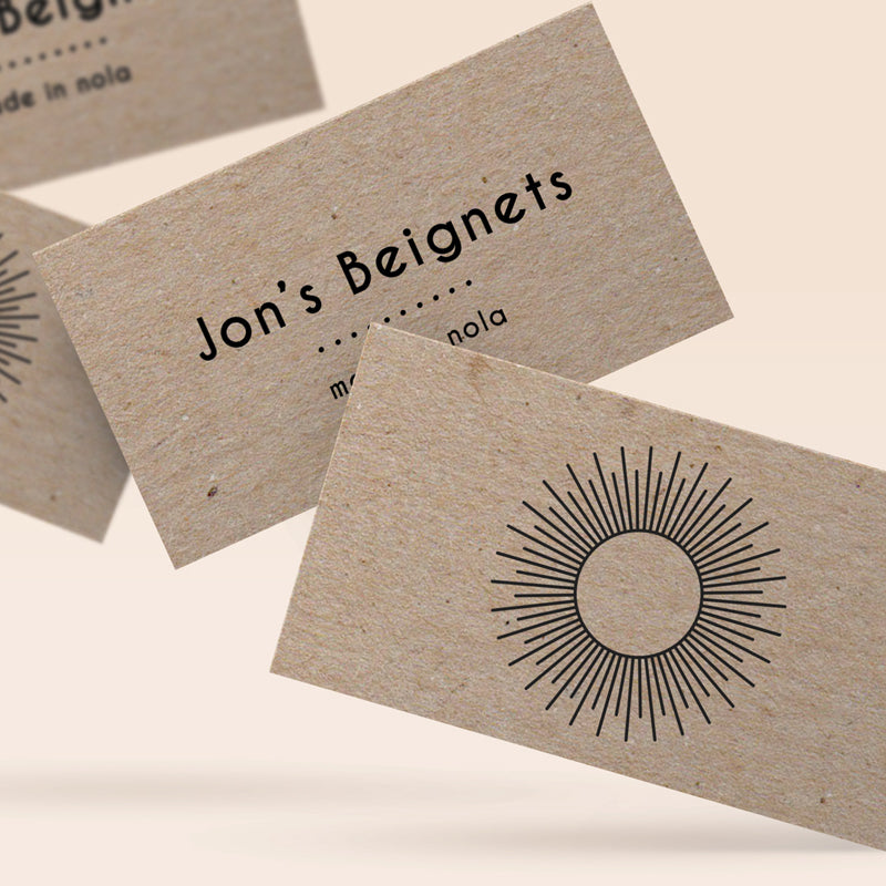 recycled kraft business cards - Kraft Business Cards