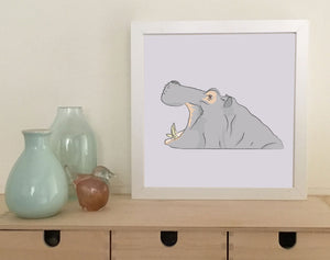 Small Art Print: Hippo