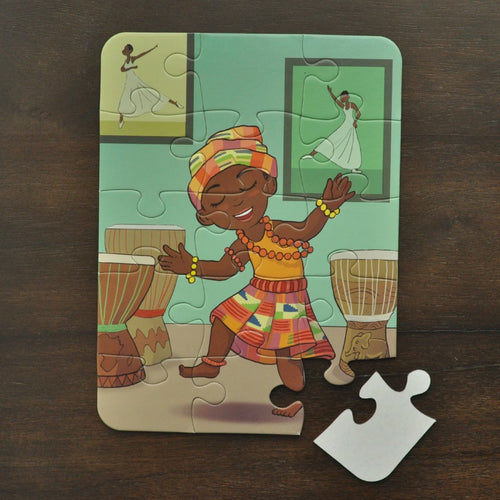 Small African Dance Puzzle (6in x 8in w/15 pieces)