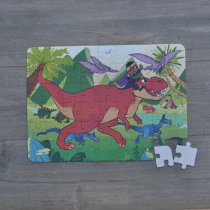 "Large Dinosaur Valley Puzzle (12"" x 16.5"" w/54 Pieces)"