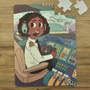 DAMAGED BOX Future Flier Puzzle (10.5in x 14in w/42 pieces)