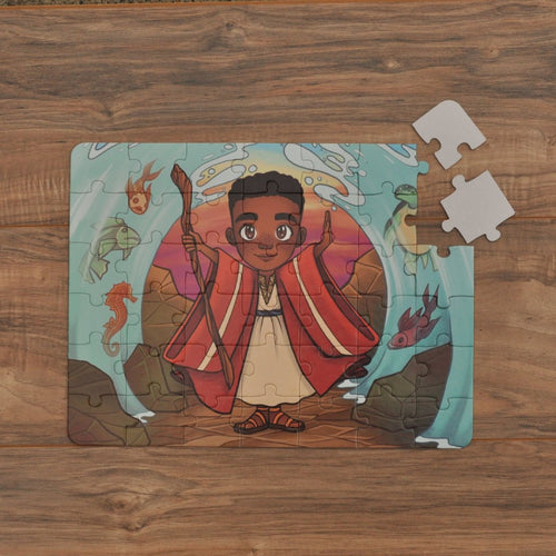 Boy Moses Kids' Puzzle (10.5in x 14in w/42 pieces)