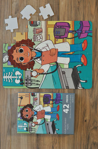 Girl Doctor Puzzle (10.5in x 14in w/42 pieces)