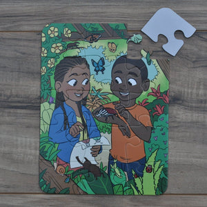 Pocket Insect Garden Puzzle (6in x 8in w/15 pieces)
