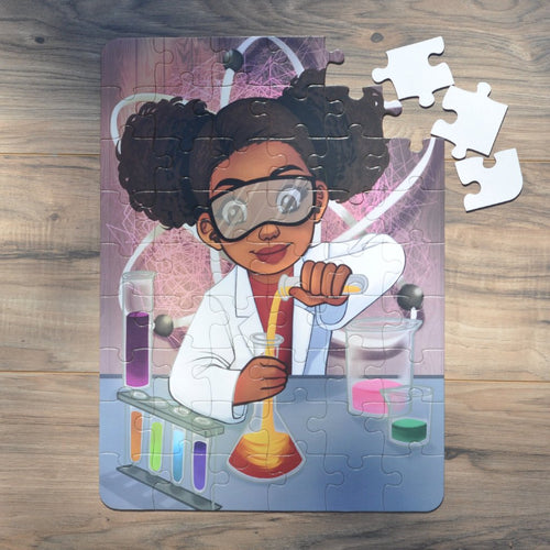 Large Chemistry Girl Puzzle (12in x 16.5in w/54 Pieces)