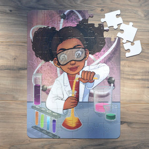 "Large Chemistry Girl Puzzle (12"" x 16.5"" w/54 Pieces)"