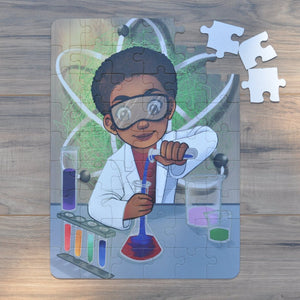 "Large Chemistry Boy Puzzle (12"" x 16.5"" w/54 Pieces)"