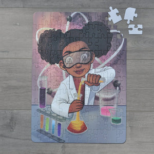 XL Chemistry Girl Kids' Puzzle (14in x 19.5in w/100 Pieces) Damaged Box