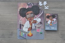 XL Chemistry Girl Kids' Puzzle (14in x 19.5in w/100 Pieces)