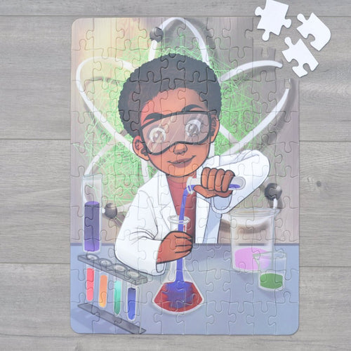 XL Chemistry Boy Kids' Puzzle (14in x 19.5in w/100 Pieces)