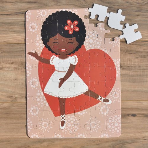 Ballerina Love Puzzle (12in x 16.5 w/54 Pieces)
