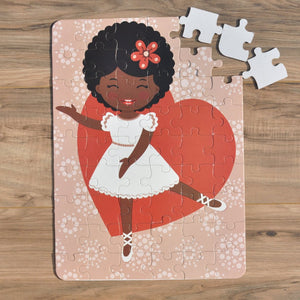 "Ballerina Love Puzzle (12"" x 16.5"" w/54 Pieces)"